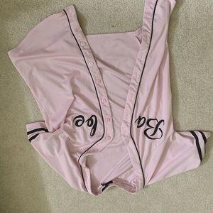 Pink short sleeved jacket